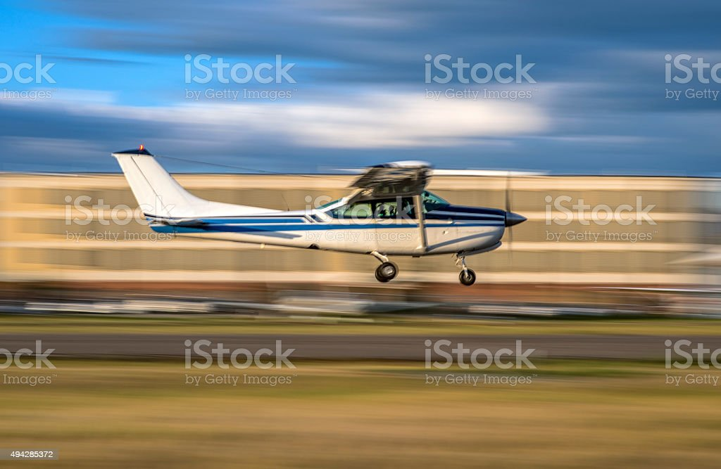 Airplane Flyby stock photo