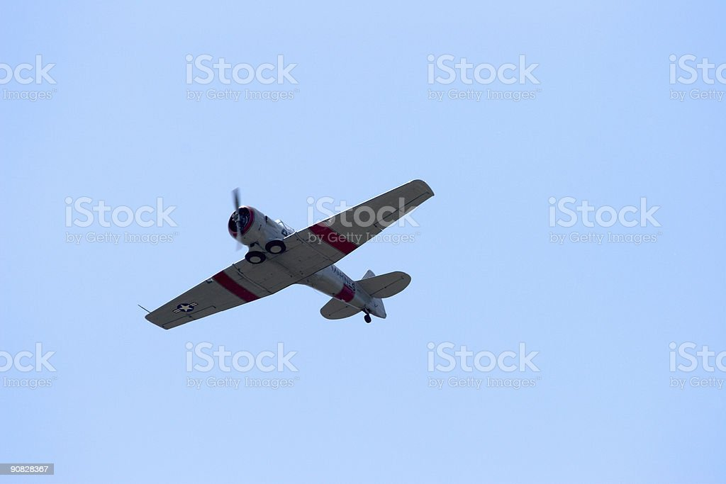 WWII airplane flyover royalty-free stock photo