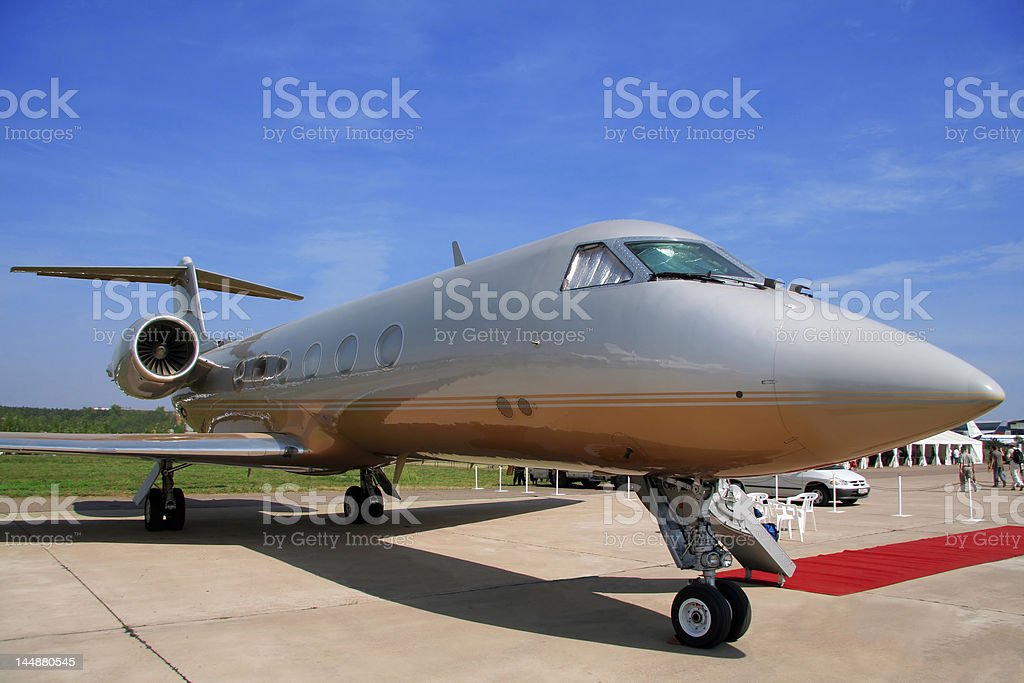 Airplane for vip flights royalty-free stock photo
