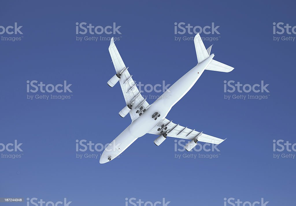 Airplane from Below royalty-free stock photo