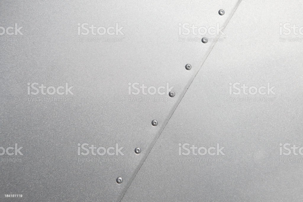 Airplane fuselage seam background stock photo