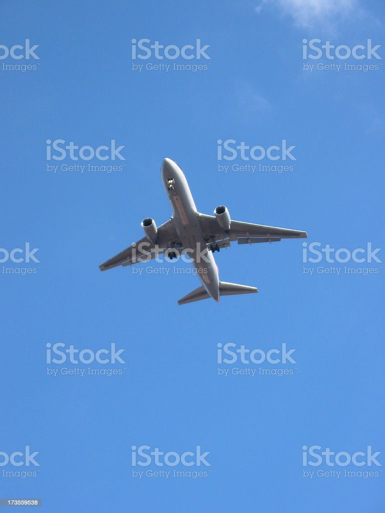 Airplane - Getting Ready to Land 2 royalty-free stock photo