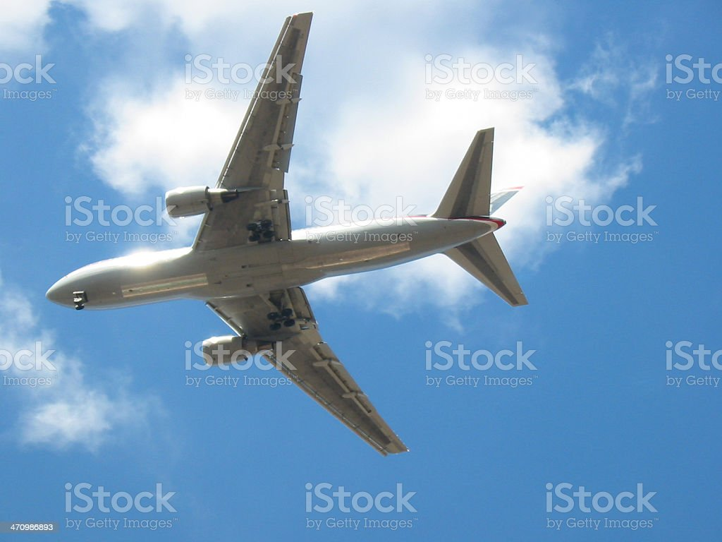 Airplane - Getting Ready to Land royalty-free stock photo