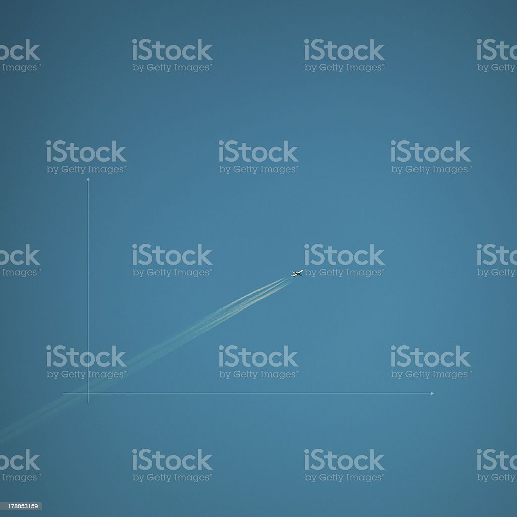 Airplane - Graph royalty-free stock photo