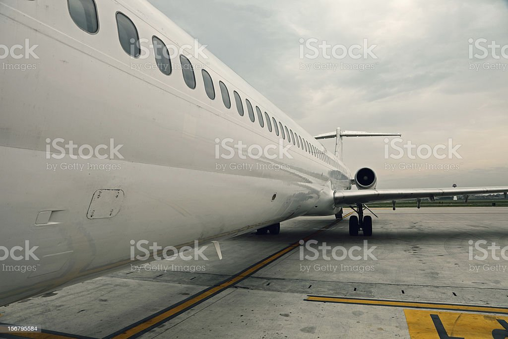 airplane in airport royalty-free stock photo