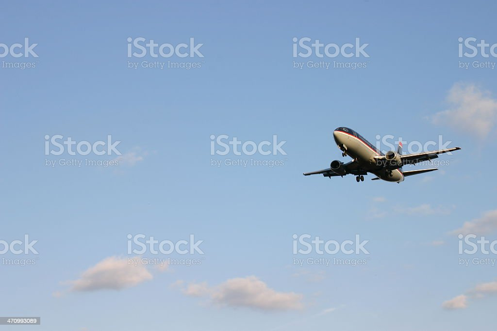 Airplane - In The Clouds royalty-free stock photo