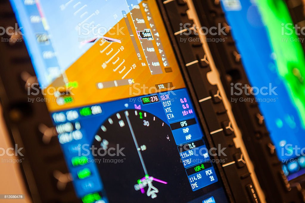 Airplane Instruments Detail stock photo