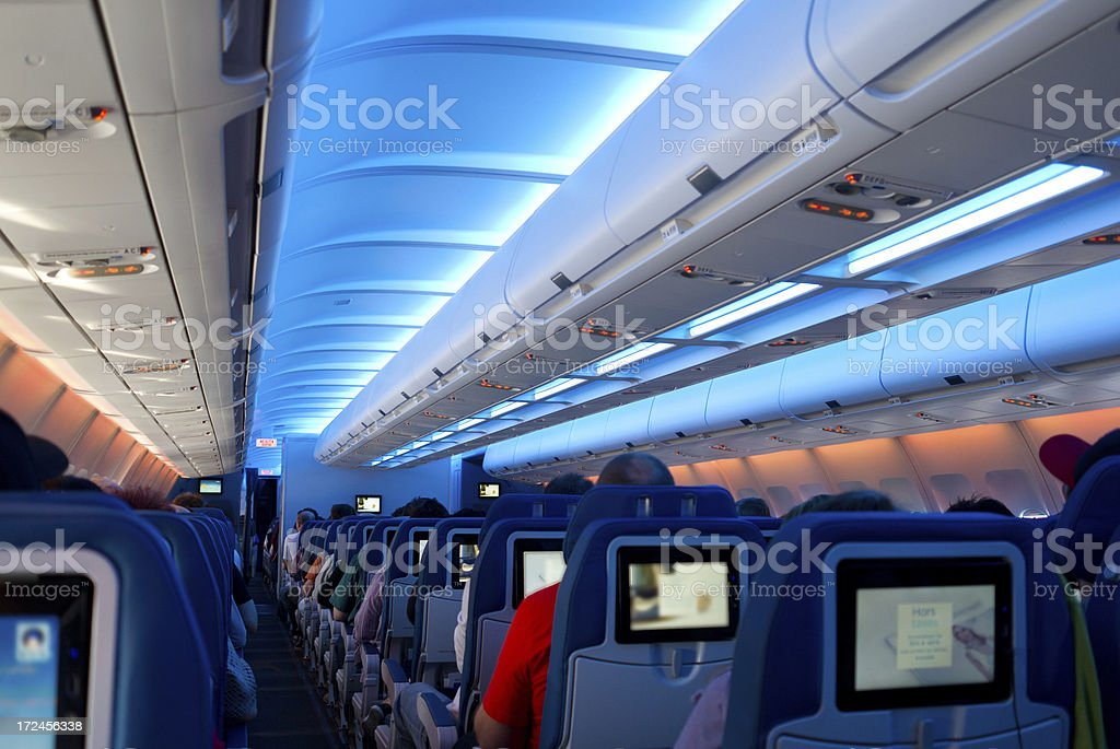 airplane interior royalty-free stock photo