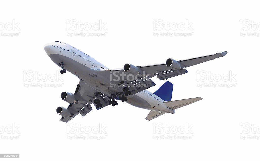 Airplane isolated on white background royalty-free stock photo