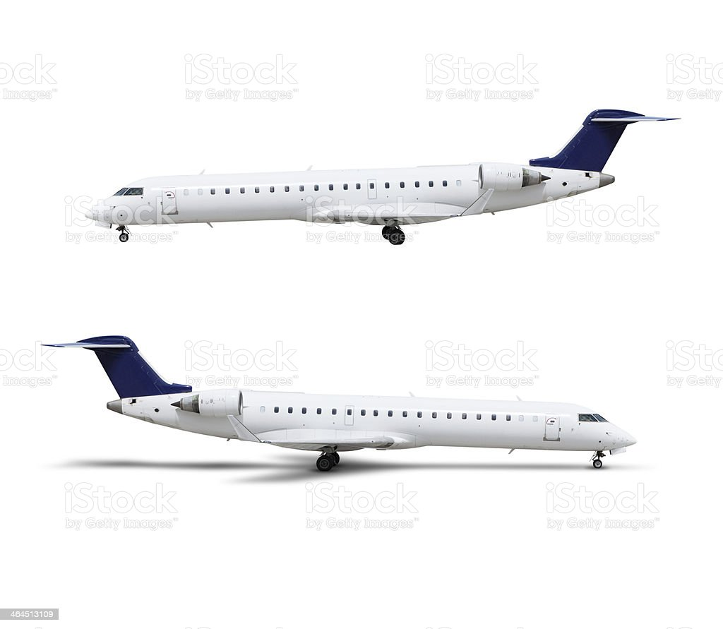 Airplane, isolated on white, clipping path royalty-free stock photo