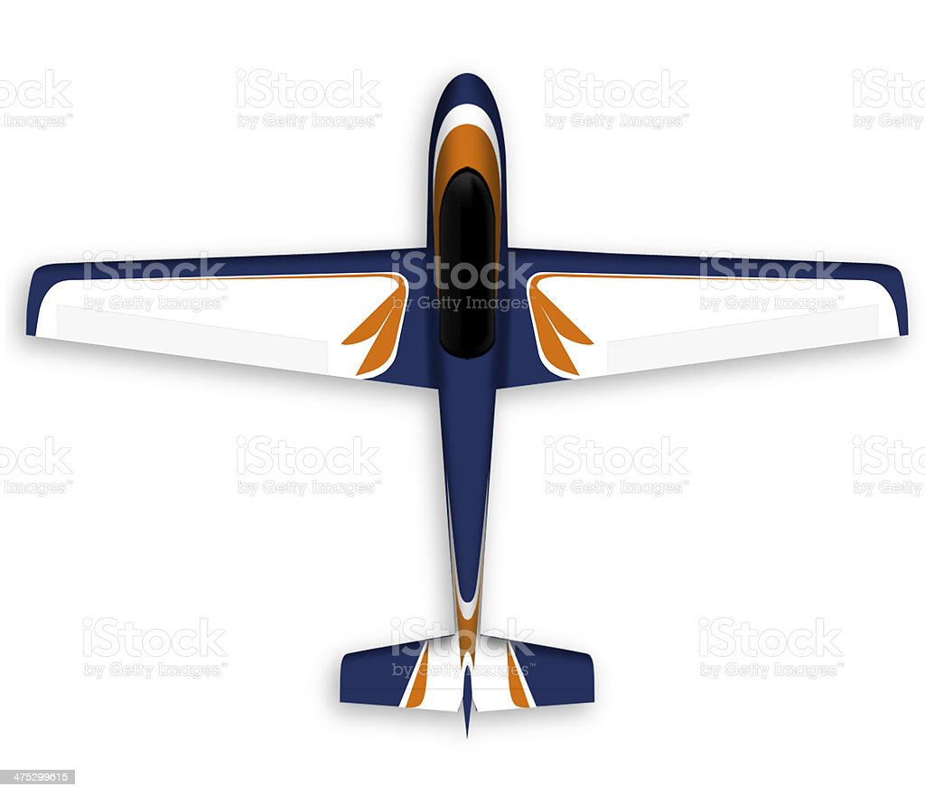 Airplane isolated on white royalty-free stock photo