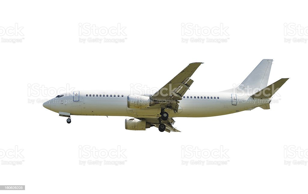 airplane isolated royalty-free stock photo