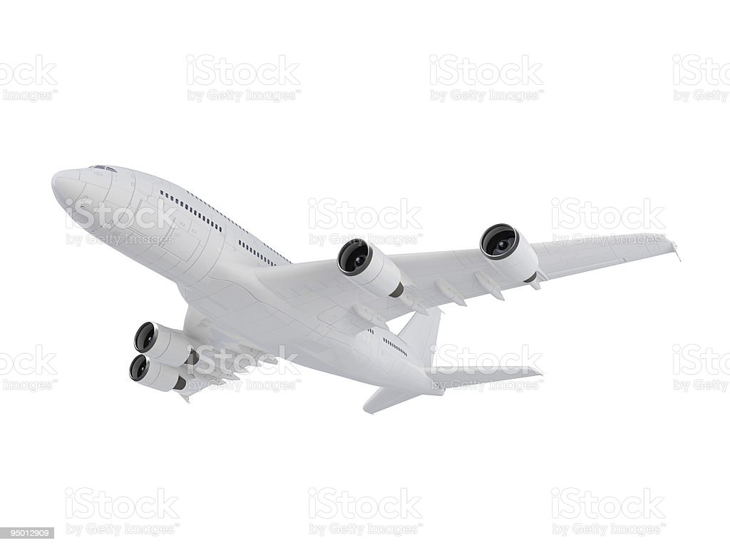 Airplane isolated view stock photo