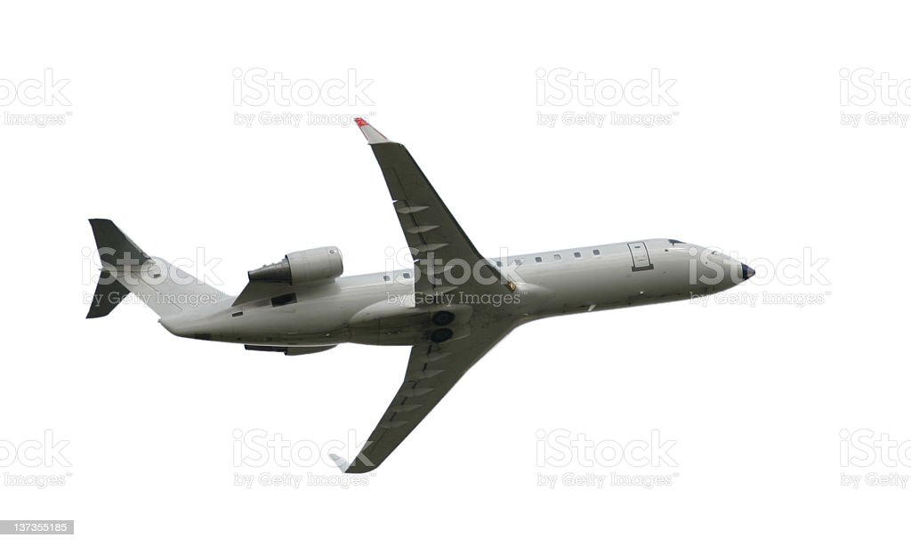 Airplane - isolated with cl. path royalty-free stock photo