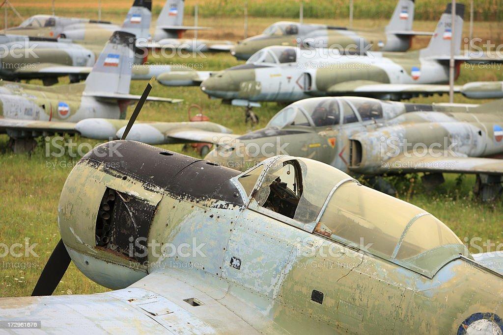 Airplane Junkyard royalty-free stock photo