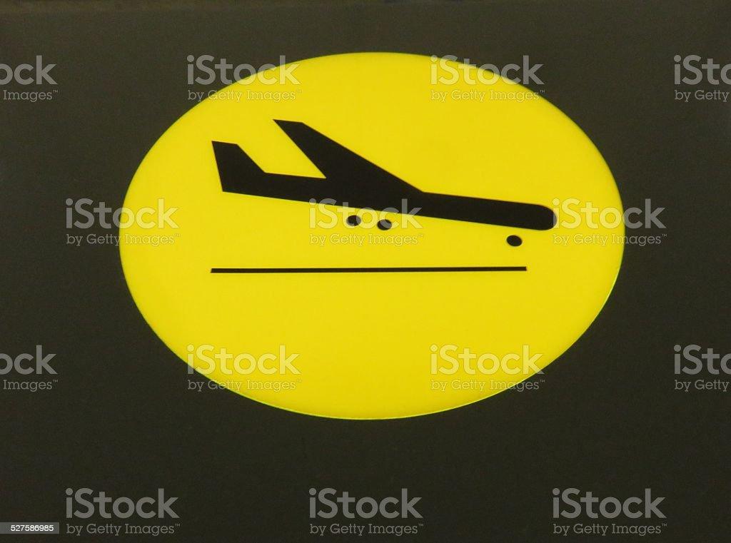 airplane landing sign stock photo
