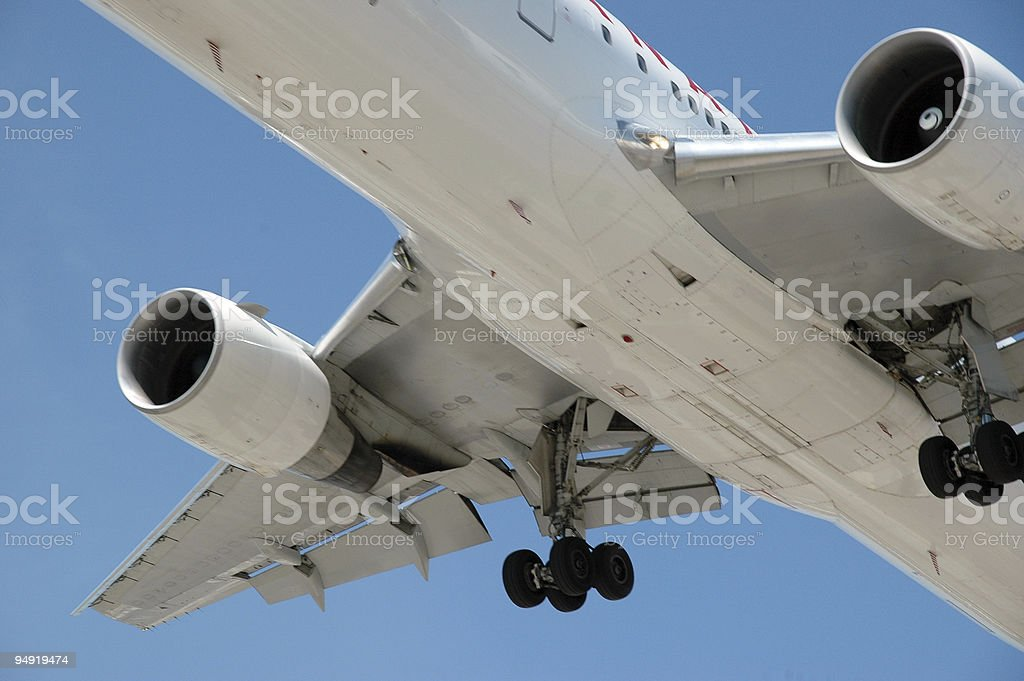 Airplane landing1 stock photo