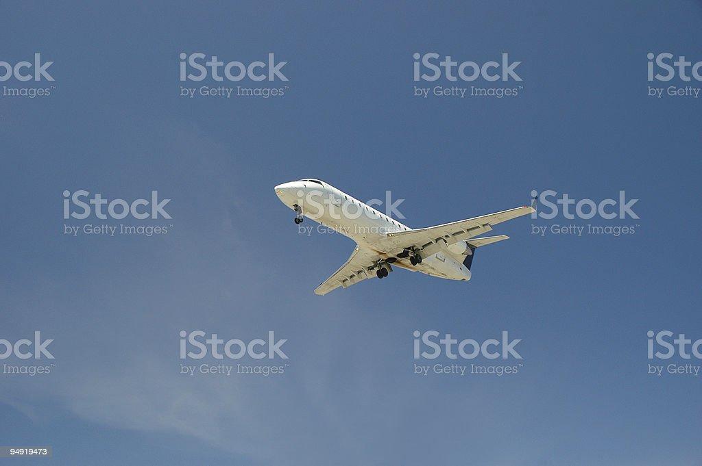 Airplane landing2 royalty-free stock photo