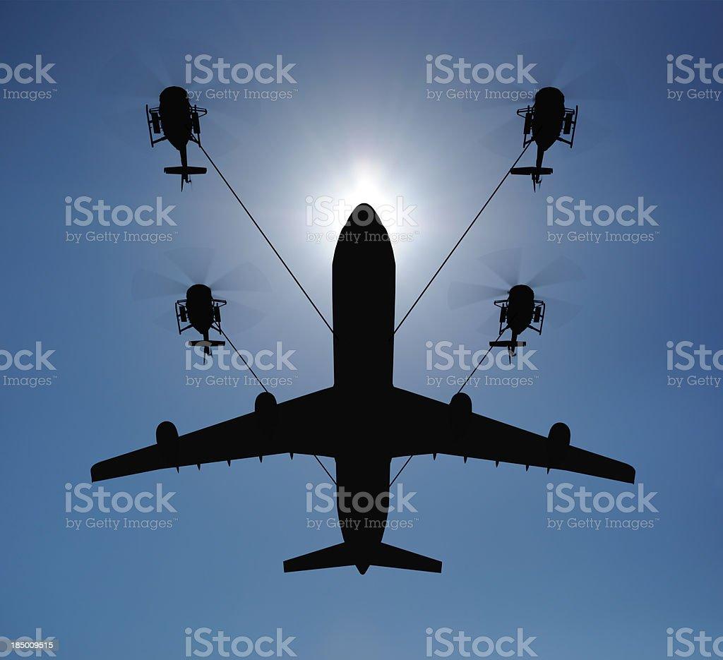 Airplane lift royalty-free stock photo