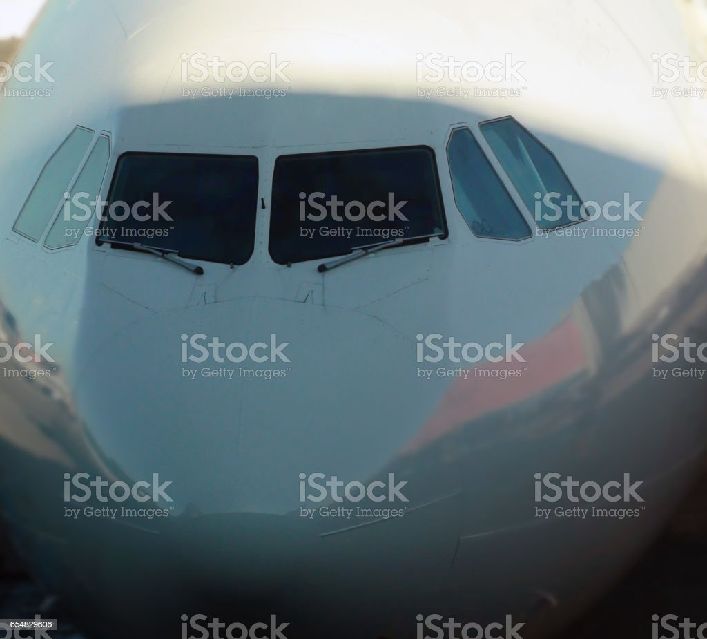 Airplane Nose Cone Close Up View stock photo