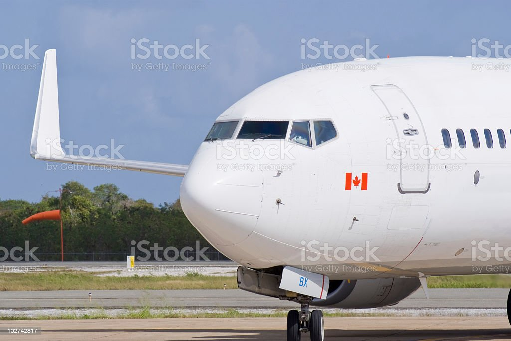 Airplane Nose stock photo