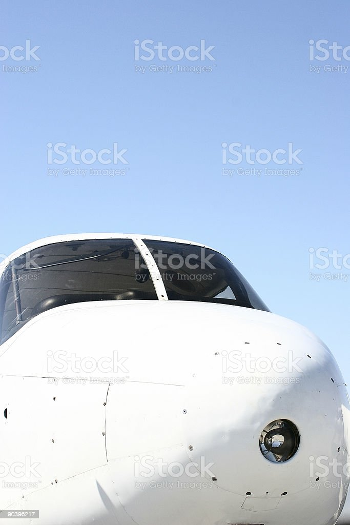 Airplane nose royalty-free stock photo