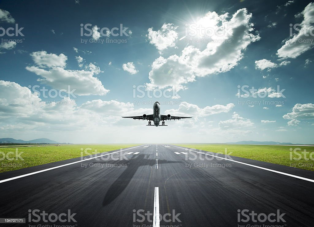 airplane on a sunny day royalty-free stock photo