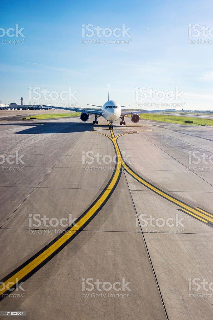 Airplane on Lane royalty-free stock photo