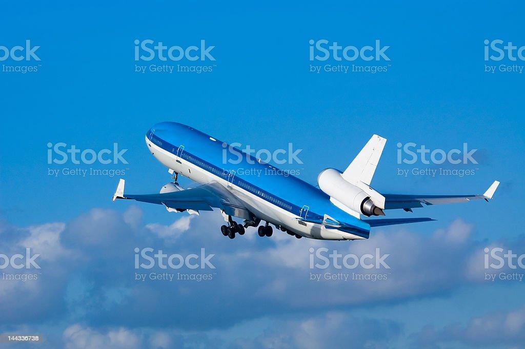 airplane on takeoff royalty-free stock photo