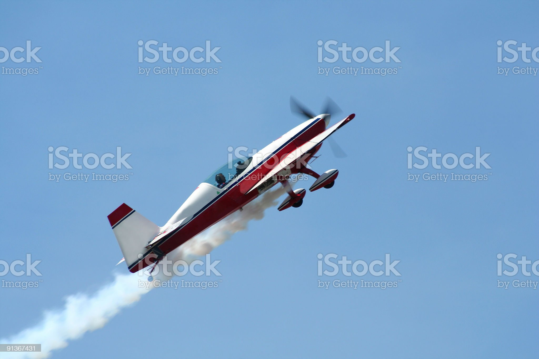 Airplane on the blue sky royalty-free stock photo