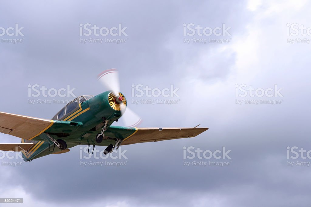 airplane on the  sky royalty-free stock photo