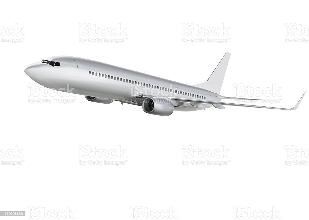 airplane on white background with path royalty-free stock photo