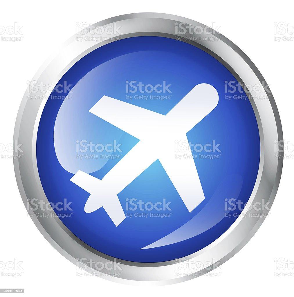 airplane or travel icon royalty-free stock photo
