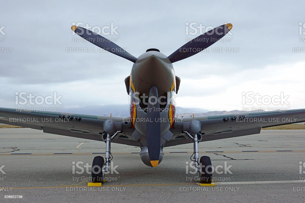 Airplane P-40 Warhawk nose stock photo