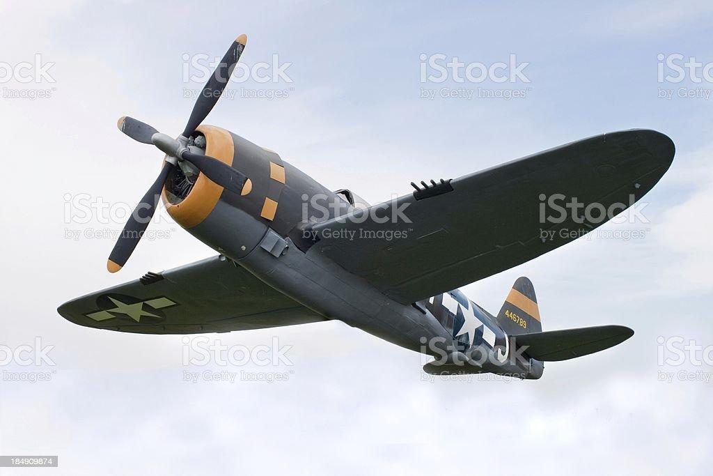 Airplane P-47 Thunderbolt from World War II stock photo