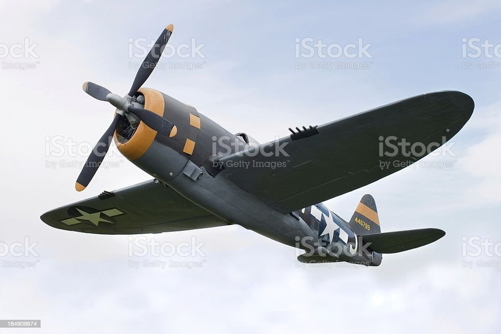 Airplane P-47 Thunderbolt from World War II stock photo
