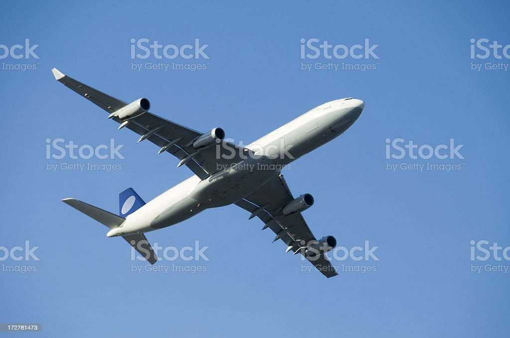 Airplane (Clipping Path with XL) royalty-free stock photo