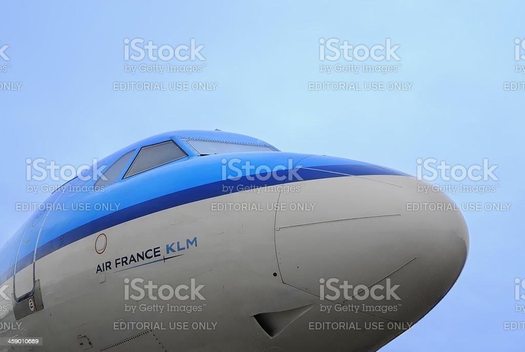 KLM airplane royalty-free stock photo