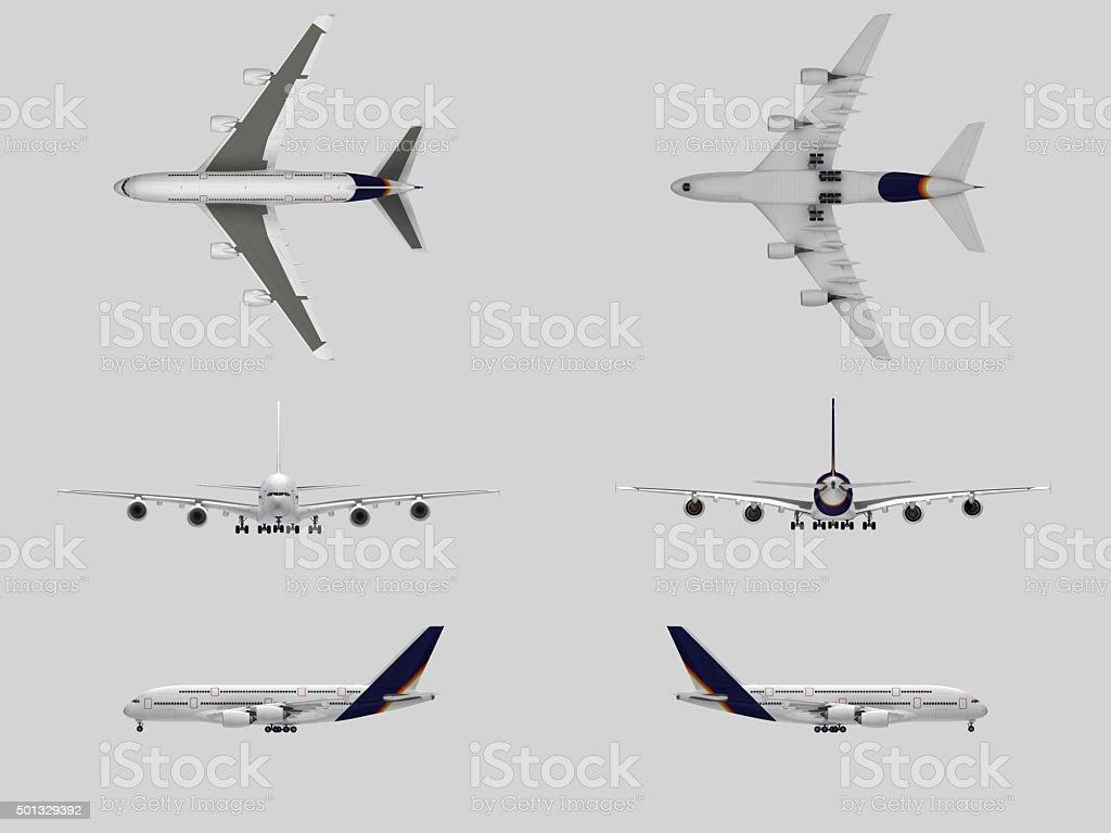 Airplane(XXXXXL) stock photo