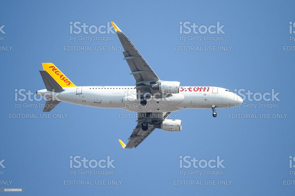 Airplane stock photo