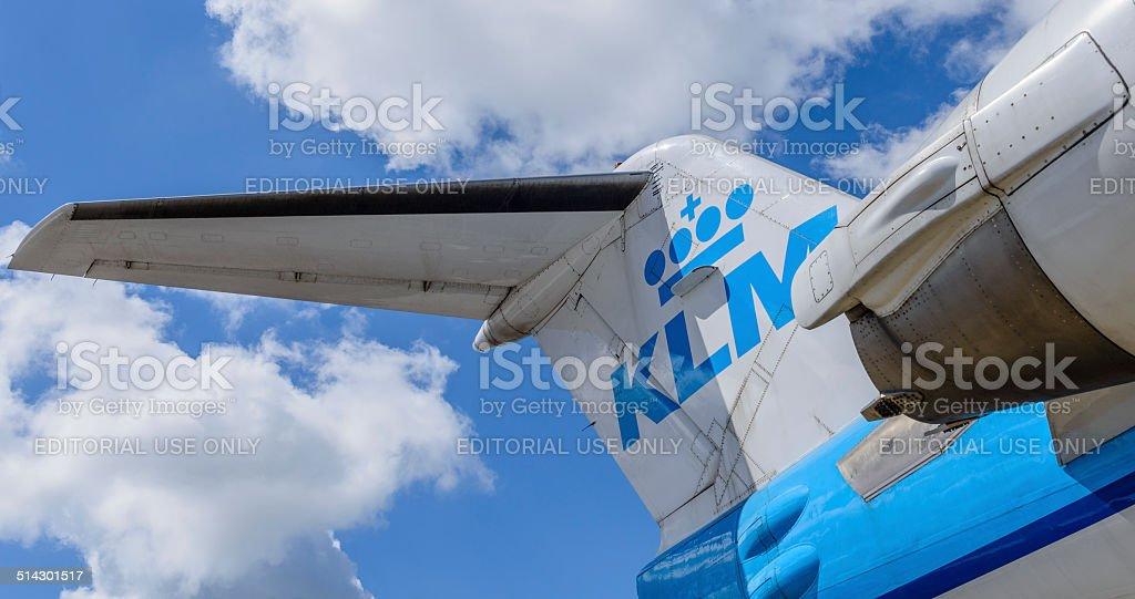 KLM airplane stock photo