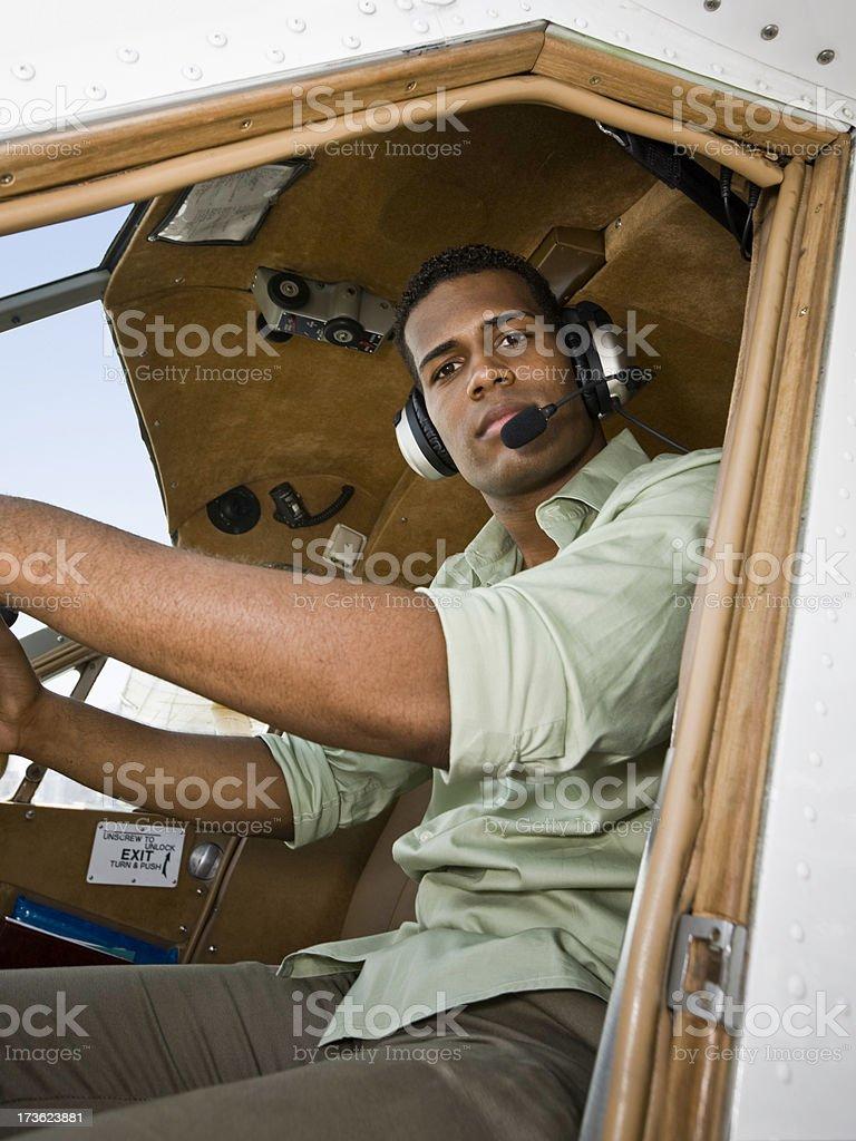 Airplane Pilot royalty-free stock photo