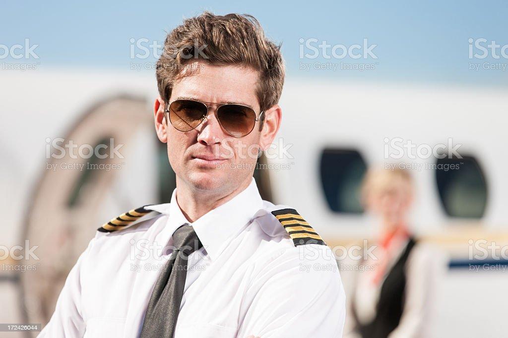 Airplane Pilot Portrait royalty-free stock photo