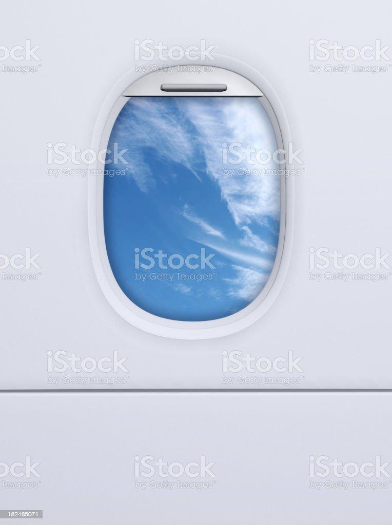 Airplane porthole stock photo