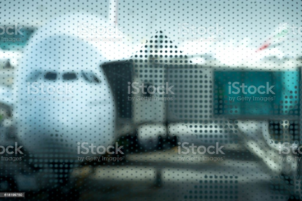 Airplane prepare for fight at the air port stock photo