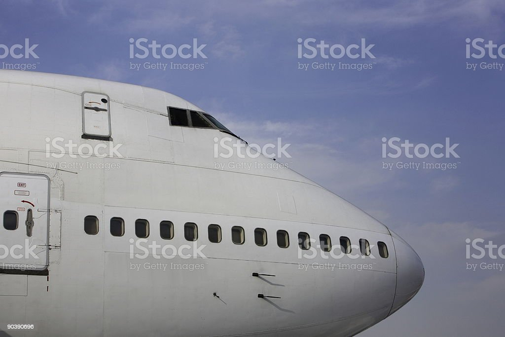 Airplane Profile royalty-free stock photo