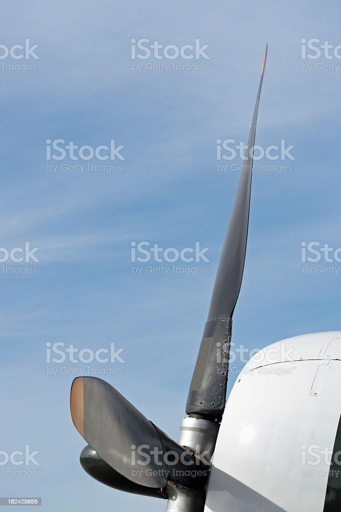 Airplane Propeller stock photo