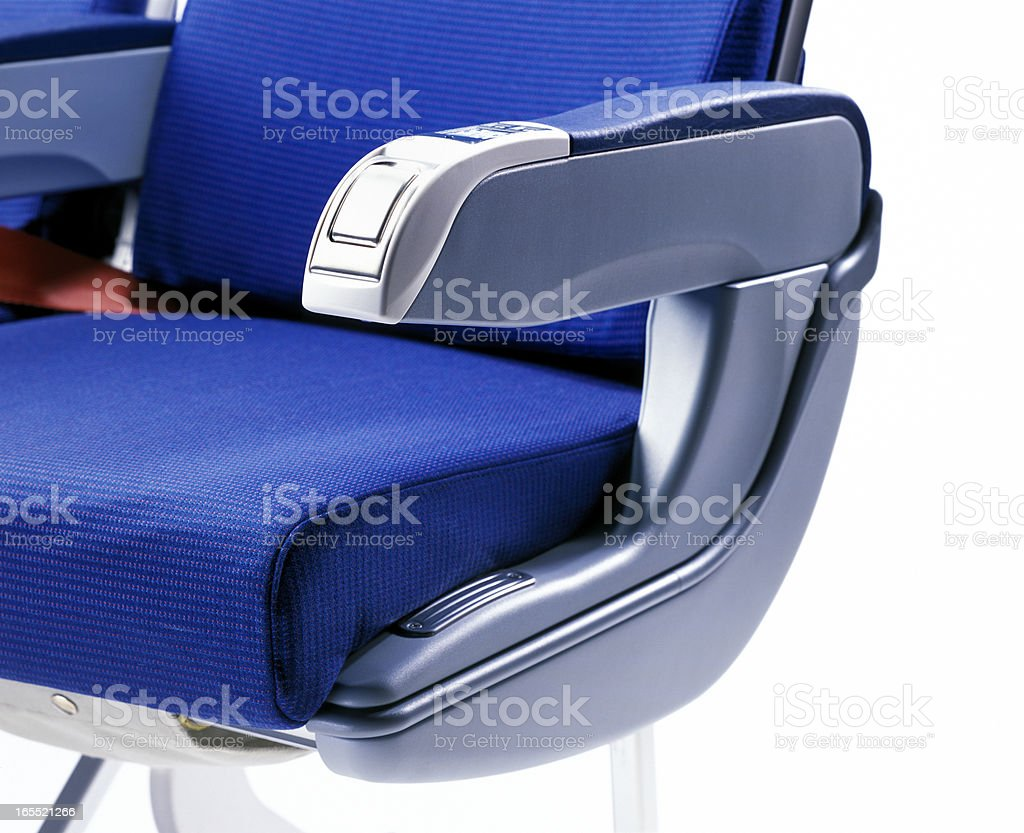 airplane seat royalty-free stock photo