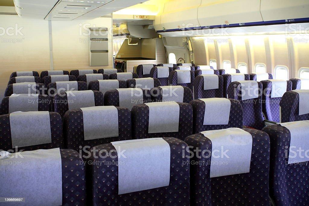 Airplane Seating royalty-free stock photo