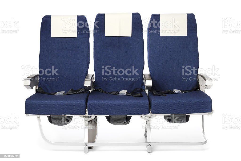 Airplane seats stock photo